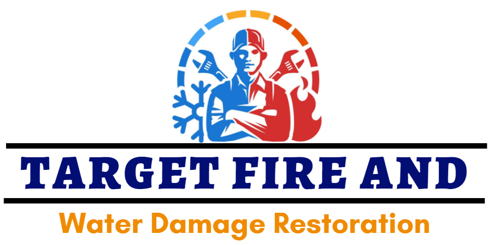 Target Fire And Water Damage Restoration Logo